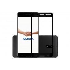 Защитное стекло 3d на весь экран для Nokia 7 Plus, черное