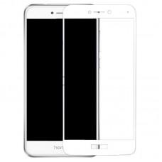 Защитное стекло 5d полной проклейки Full glue для Huawei P8 Lite 2017 белое