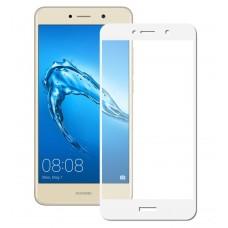 Защитное стекло 3d на весь экран для Huawei Y3 2017, белое