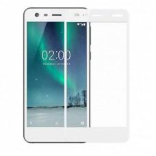 Защитное стекло 3d на весь экран для Nokia 2, белое