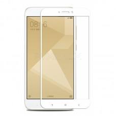 Защитное стекло полной проклейки Full glue 5D для Xiaomi Redmi Note 5A Pro, белое