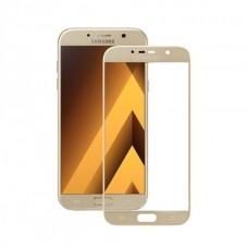 Защитное стекло 3D на весь экран для Samsung Galaxy A5 (2017) A520F, золотое