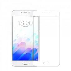 Защитное стекло 3d на весь экран для MEIZU M5 Note, белое