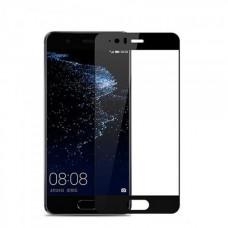 Защитное стекло 5d полной проклейки Full glue для Huawei P10 черное