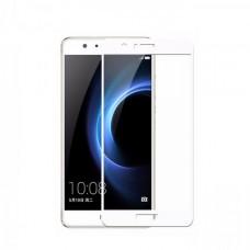 Защитное стекло 3d на весь экран для Huawei Honor 8, белое