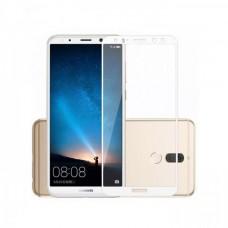 Защитное стекло 3d на весь экран для Huawei Mate 10 Lite белое