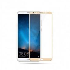 Защитное стекло 3d на весь экран для Huawei Mate 10 Lite, золотое