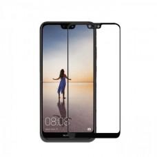 Защитное стекло 3d на весь экран для Huawei P20, черное