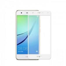Защитное стекло 3D на весь экран для Huawei P9 Lite mini, белое