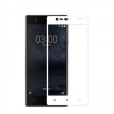 Защитное стекло на весь экран для Nokia 3, белое