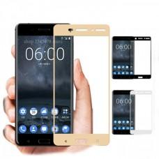 Защитное стекло на весь экран для Nokia 5, золотое