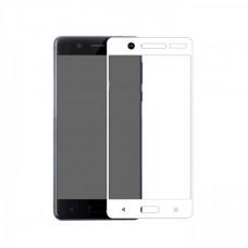 Защитное стекло на весь экран для Nokia 6, белое
