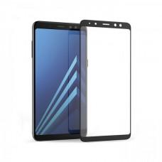 Защитное стекло 3D на весь экран для Samsung Galaxy A8 Plus 2018 / A7 2018, черное