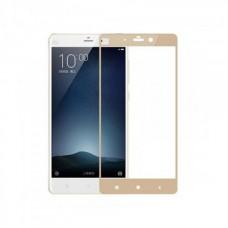 Защитное стекло 3d на весь экран для Xiaomi Mi Max 2, золотое