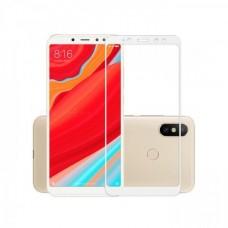 Защитное стекло 3d на весь экран для Xiaomi Redmi S2, белое