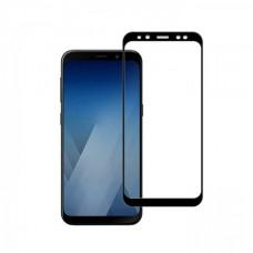 Защитное стекло полной проклейки Full glue 5d Samsung Galaxy A8 2018 / A5 2018 черное