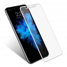 Защитное стекло Full Screen 5D для Apple iPhone X, белое