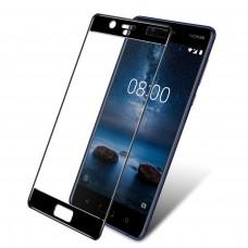 Защитное стекло 3d на весь экран для Nokia 8, черное