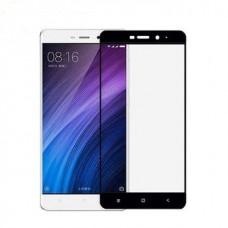 Защитное стекло 3d на весь экран для Xiaomi Redmi 4X ,черное