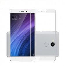 Защитное стекло 3d на весь экран для Xiaomi Redmi 4A ,белое