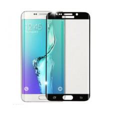 Защитное стекло 3D на экран Samsung Galaxy S6 Edge, черное