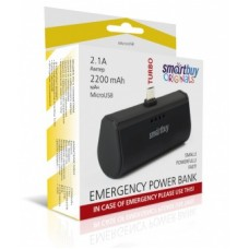 Внешний аккумулятор SMARTBUY (Power bank) TURBO-8, 2.1A, 2200 мА/ч, MicroUSB