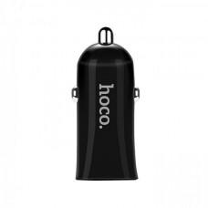 Автомобильное зарядное устройство HOCO Z12 2.4А, черное
